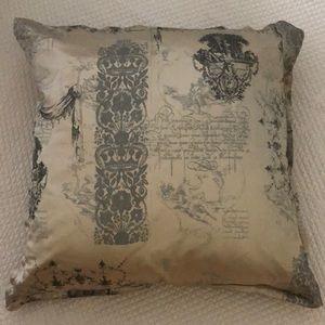 VTG Euro pillow & Sham silk & velvet in grays